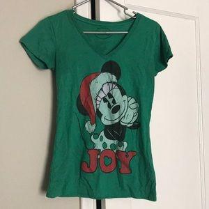 Disney Christmas L Vneck shirt